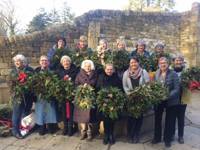 Christmas Wreath Making - and jollity!